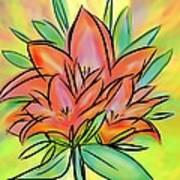 Sunrise Lily Art Print