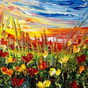Sunrise Meadow   Art Print