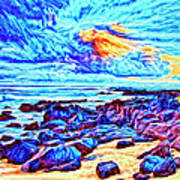 Sunrise Near Poipu Beach Art Print