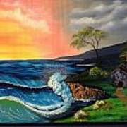 Sunrise Ocean Art Print