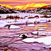 Sunrise On A Cold Day Art Print