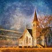 Sunrise On A Rural Church 13 Art Print