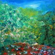 Sunrise On Hilltop Art Print