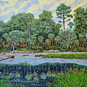 Sunrise On Hunting Island Lagoon Art Print