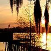 Sunrise On Lake Weir - 7 Art Print