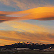 Sunrise On Lenticular Clouds Art Print