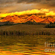 Sunrise On Little Redfish Lake Art Print
