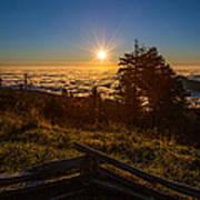 Sunrise On Mount Mitchell Art Print