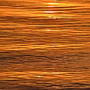 Sunrise On Orange Waves  Art Print