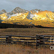 Sunrise On Sawtooth Mountains Idaho Art Print