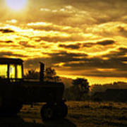 Sunrise On The Deere Art Print