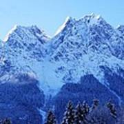 Sunrise On The Alps Art Print