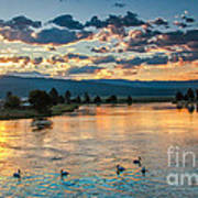 Sunrise On The North Payette River Art Print
