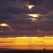 Sunrise On The Ocean Art Print