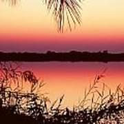 Sunrise On The Okavango Delta Art Print