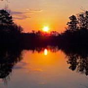 Sunrise On The Pond Art Print