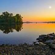 Sunrise On The River Art Print