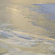 Sunrise On The River Ice #2 Art Print