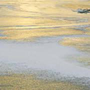 Sunrise On The River Ice Art Print