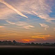 Sunrise Over Bartonsham Art Print