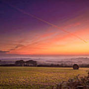 Sunrise Over Cornwall Art Print