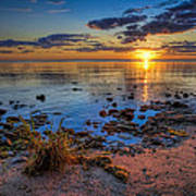 Sunrise Over Lake Michigan Art Print