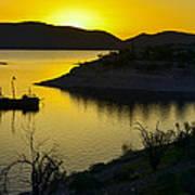 Sunrise Over Lake Pleasant Art Print