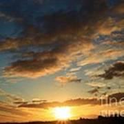 Sunrise Over Port Angeles Art Print