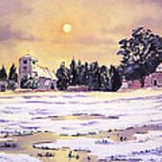 Sunrise Over St Botolph's Church Art Print by Bill Holkham