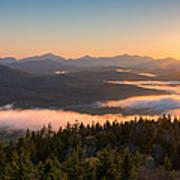 Sunrise Over The Adirondack High Peaks Art Print