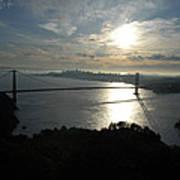 Sunrise Over The Golden Gate Art Print