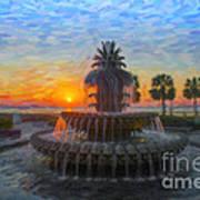 Sunrise Over The Pineapple Art Print