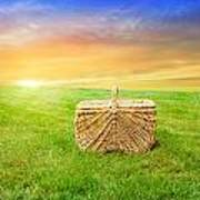 Sunrise Picnic Basket Art Print