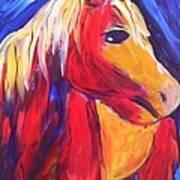 Sunrise Pony Art Print
