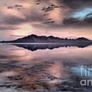 Sunrise Reflection At Salt Flats Art Print