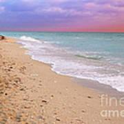 Sunrise Surf At Miami Beach  Art Print