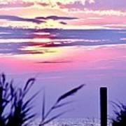 Sunrise Through The Dunes Art Print