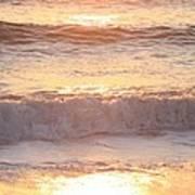 Sunrise Waves Art Print