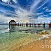 Sunscape Sabor Pier Art Print