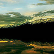 Sunset 1 Rainy Lake Art Print