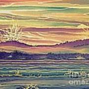 Sunset Across The River Art Print