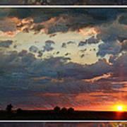 Sunset After A Thunderstorm Photoart Art Print