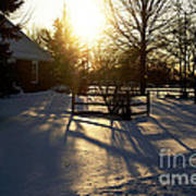Sunset After The Snow Storm Art Print