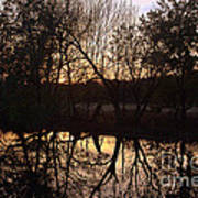 Sunset Along Jordan Creek Art Print