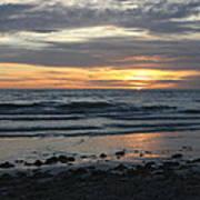 Sunset Amoung The Clouds Art Print