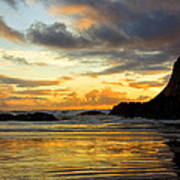 Sunset And Seal Rock Art Print