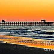 Sunset Apache Pier Art Print