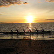 Sunset At Anaeho'omalu Bay Art Print