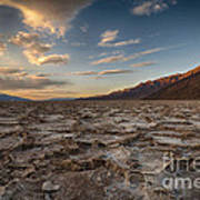 Sunset At Badwater Basin Art Print