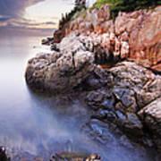 Sunset At Bass Harbor Lighthouse Art Print